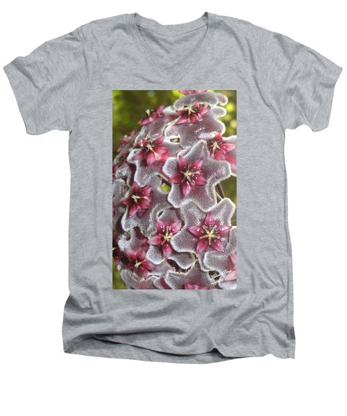 Floral Presence - Signed Men's V-Neck T-Shirt