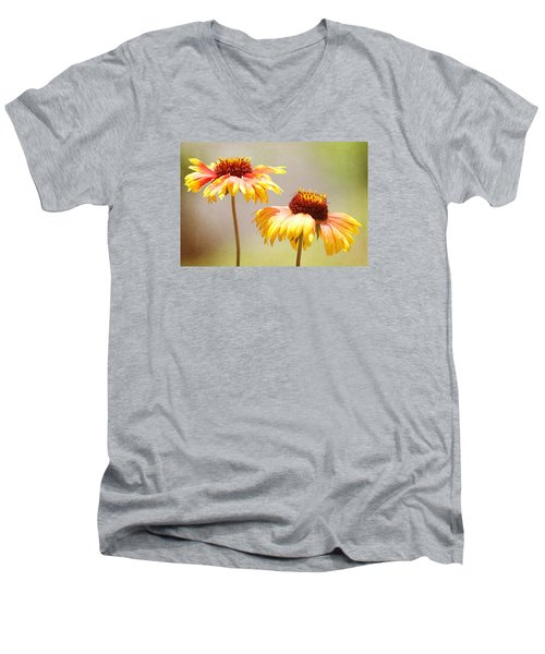 Floral Sunshine Men's V-Neck T-Shirt