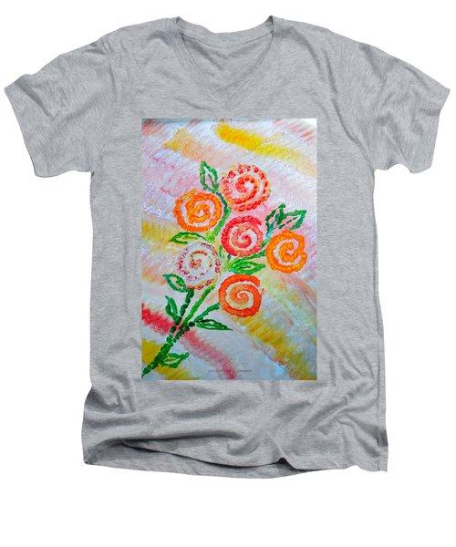 Floralen Traum Men's V-Neck T-Shirt by Sonali Gangane