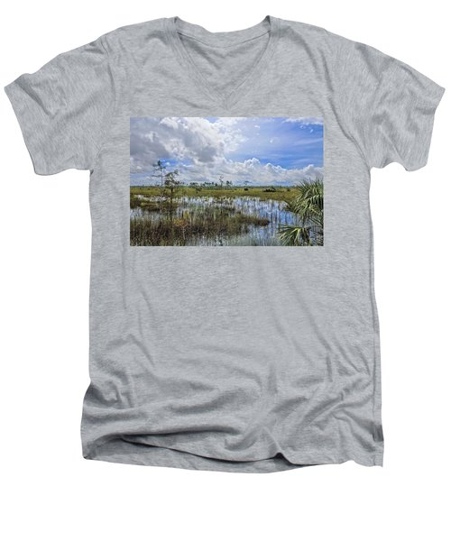 Florida Everglades 0173 Men's V-Neck T-Shirt