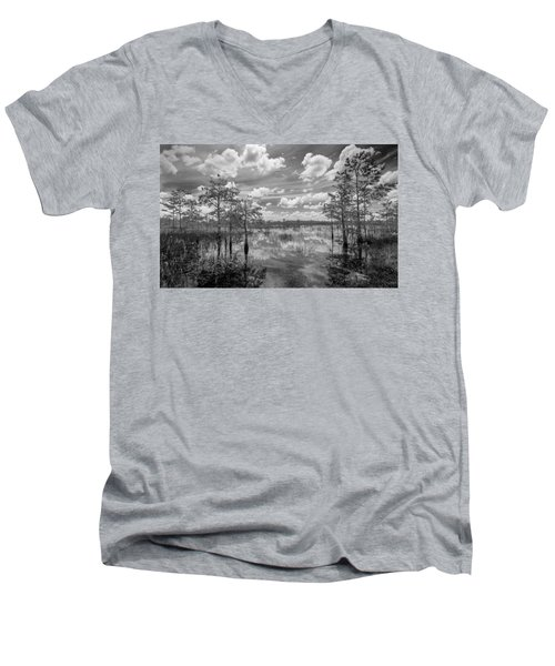 Florida Everglades 5210bw Men's V-Neck T-Shirt