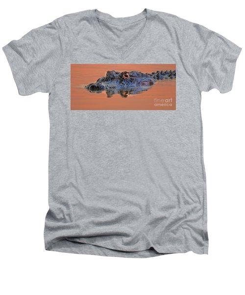 Alligator For Florida  Men's V-Neck T-Shirt