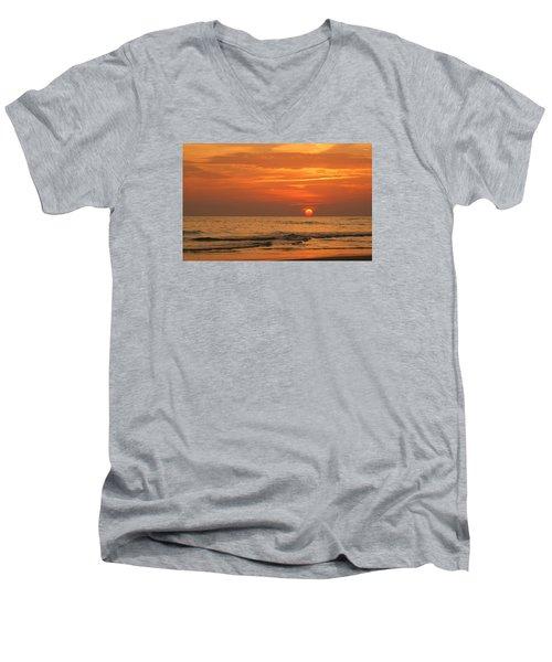 Florida Sunset Men's V-Neck T-Shirt by Sandy Keeton