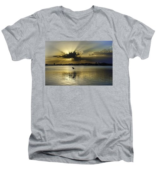 Florida Sunset Men's V-Neck T-Shirt