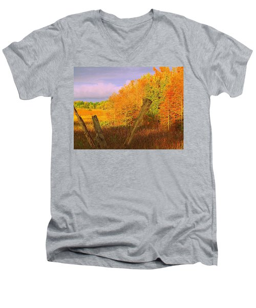 Men's V-Neck T-Shirt featuring the photograph Florida Wetlands  by David Mckinney