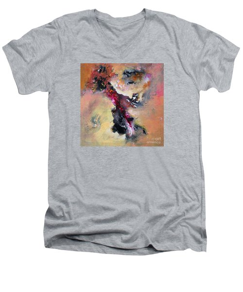 Flow Sold Out Men's V-Neck T-Shirt by Sanjay Punekar