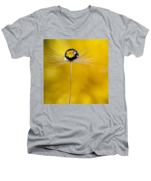 Flower And Seed Men's V-Neck T-Shirt by Aaron Aldrich