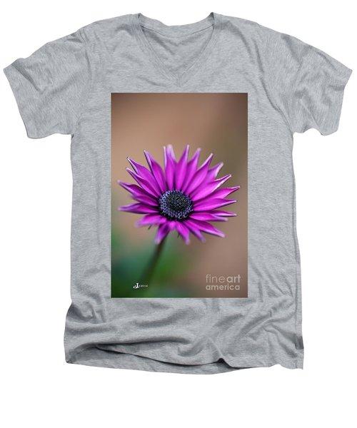 Flower-daisy-purple Men's V-Neck T-Shirt