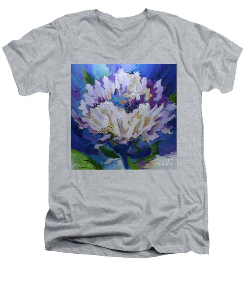 Flower For A Friend Men's V-Neck T-Shirt