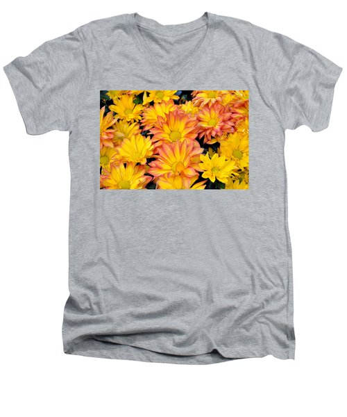Flower  Men's V-Neck T-Shirt by Gandz Photography