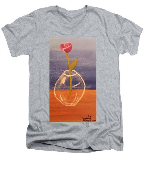 Flower In Vase Men's V-Neck T-Shirt