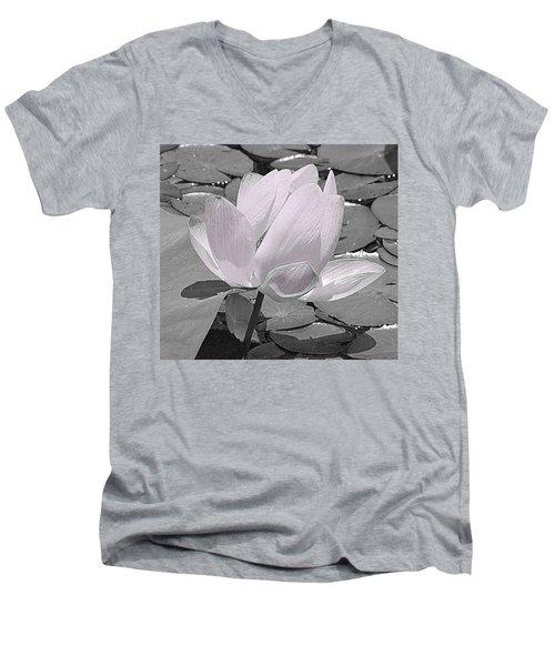 Flower Lilly Pad Men's V-Neck T-Shirt by Steve Archbold