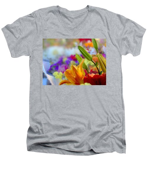 Flower Market 1 Men's V-Neck T-Shirt