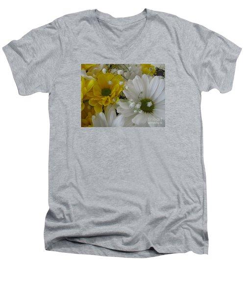 Flower Mix Men's V-Neck T-Shirt