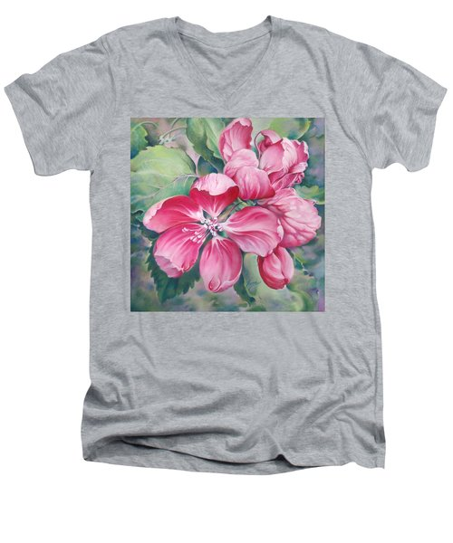 Flower Of Crab-apple Men's V-Neck T-Shirt