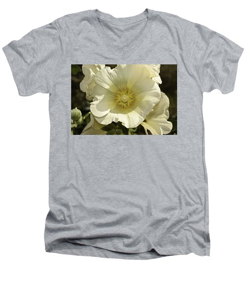 Flower Petals Of A White Flower Men's V-Neck T-Shirt