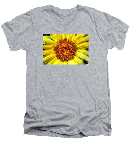 Flower Power Men's V-Neck T-Shirt by Tina  LeCour