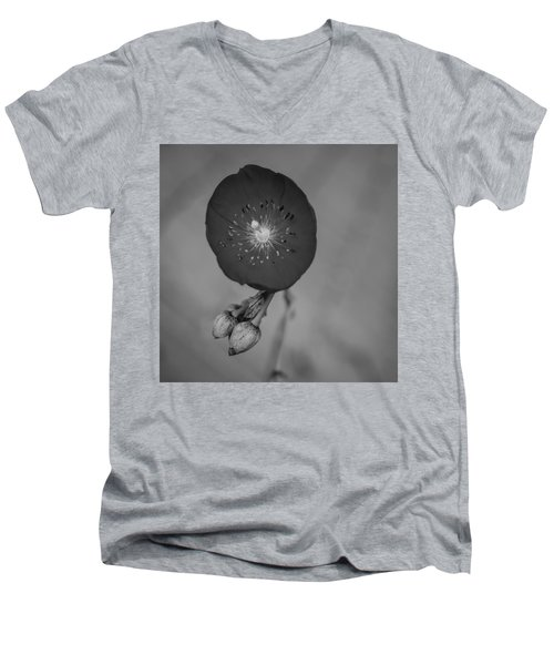 Men's V-Neck T-Shirt featuring the photograph Flower Unknown by Ron White