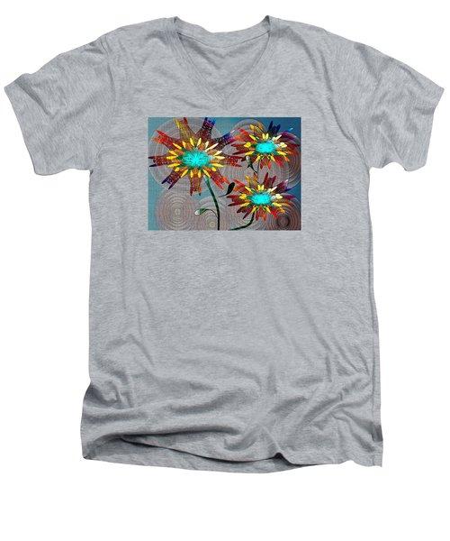 Flowering Blooms Men's V-Neck T-Shirt