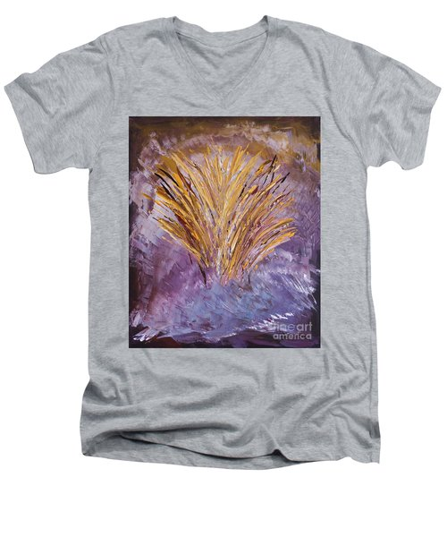 Flowering Nebula Men's V-Neck T-Shirt
