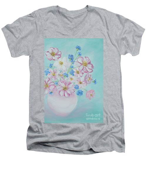 Flowers In A Vase. Inspirations Collection Men's V-Neck T-Shirt