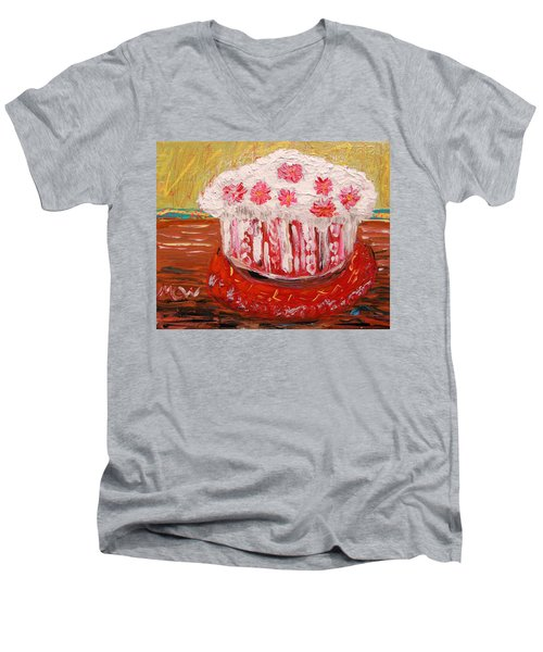 Flowers In The Frosting Men's V-Neck T-Shirt by Mary Carol Williams