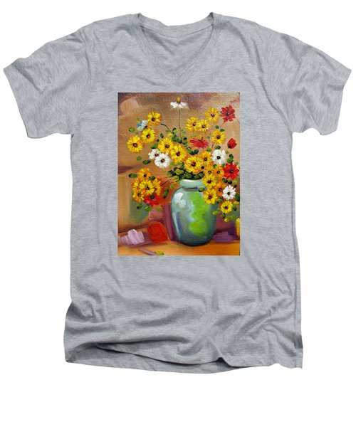 Flowers - Still Life Men's V-Neck T-Shirt
