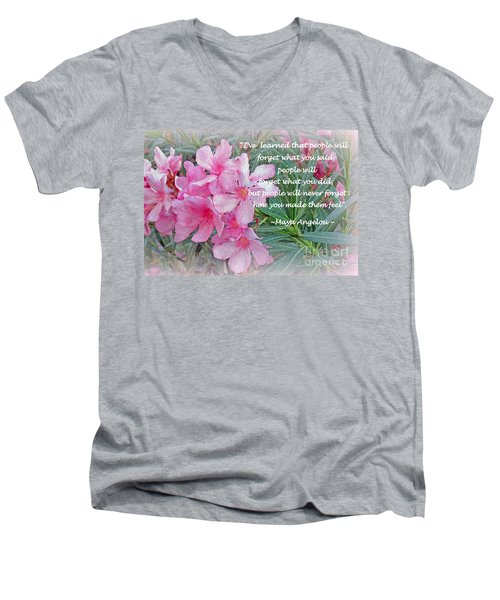 Flowers With Maya Angelou Verse Men's V-Neck T-Shirt