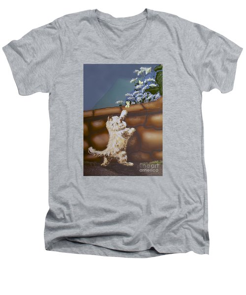 Fluff And Flutter Men's V-Neck T-Shirt