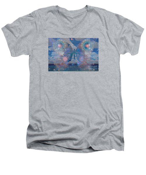 Flutterby Meditation Men's V-Neck T-Shirt