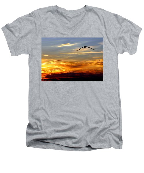 Fly Free Men's V-Neck T-Shirt