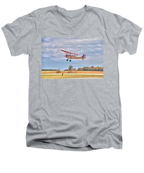 Flying Circus Barnstormers Men's V-Neck T-Shirt by Gordon Elwell