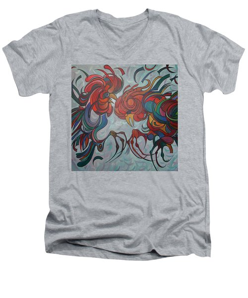 Flying Feathers Men's V-Neck T-Shirt