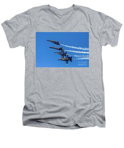 Flying Formation Men's V-Neck T-Shirt