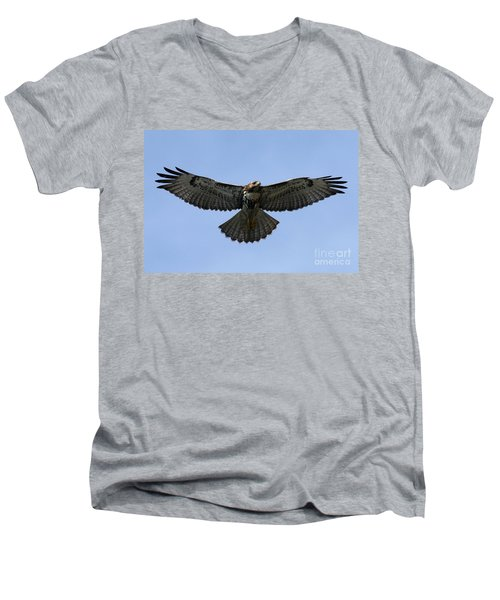 Flying Free - Red-tailed Hawk Men's V-Neck T-Shirt