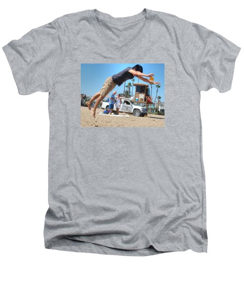 Flying Tourist Men's V-Neck T-Shirt