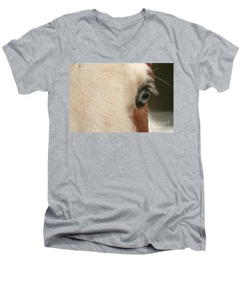 Focus Front Men's V-Neck T-Shirt by Michelle Twohig