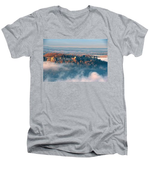 Fog Around The Fortress Koenigstein Men's V-Neck T-Shirt