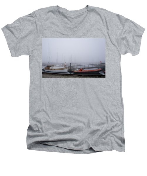 Fog In Marina IIi Men's V-Neck T-Shirt