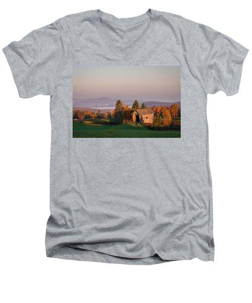 Fog In The Valley Men's V-Neck T-Shirt