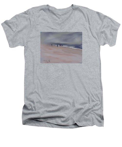 Fog On Folly Field Beach Men's V-Neck T-Shirt