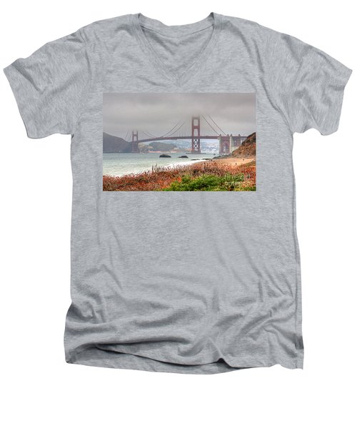 Foggy Bridge Men's V-Neck T-Shirt
