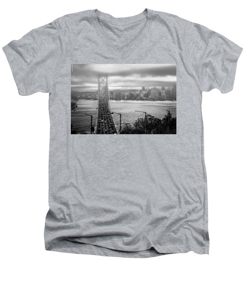 Foggy City Of San Francisco Men's V-Neck T-Shirt