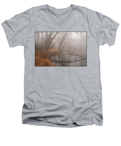 Foggy Fall Morning Men's V-Neck T-Shirt