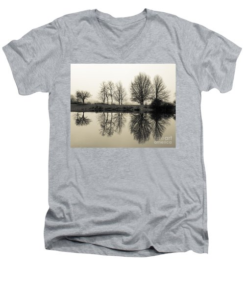 Foggy Reflections Men's V-Neck T-Shirt