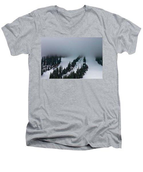 Foggy Ski Resort Men's V-Neck T-Shirt
