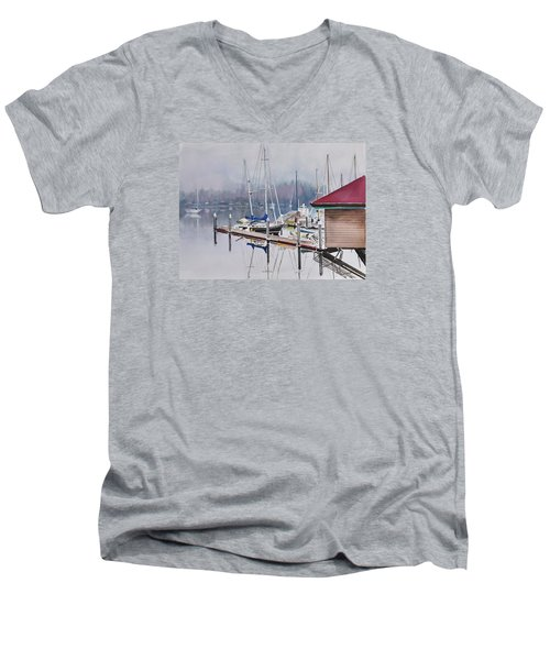 Foggy Dock Men's V-Neck T-Shirt