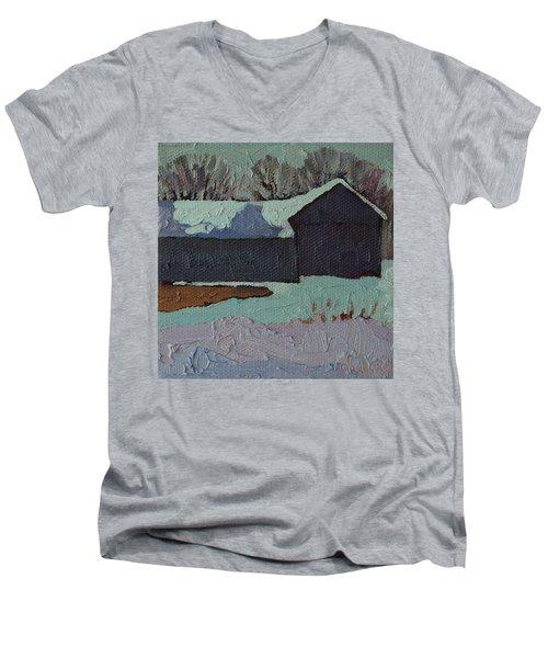 Foley Mountain Farm Men's V-Neck T-Shirt by Phil Chadwick