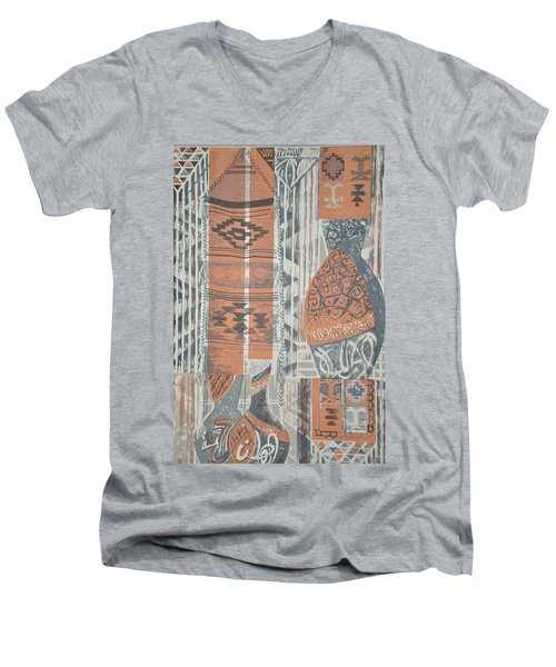 Folk Arabic Symbols Men's V-Neck T-Shirt