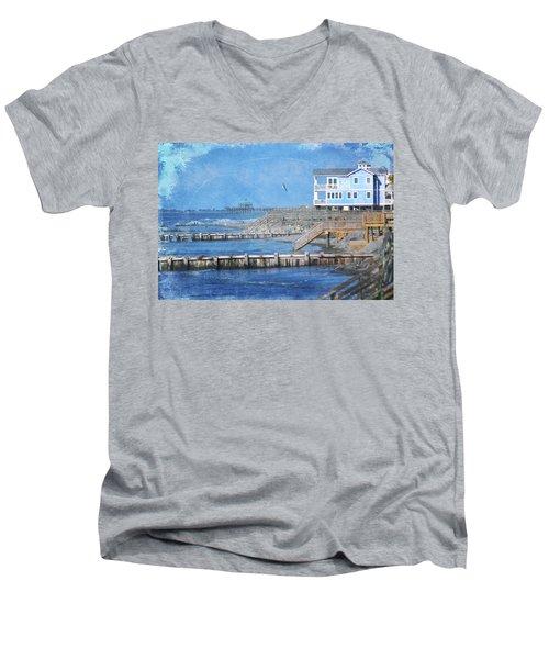 Folly Beach Men's V-Neck T-Shirt